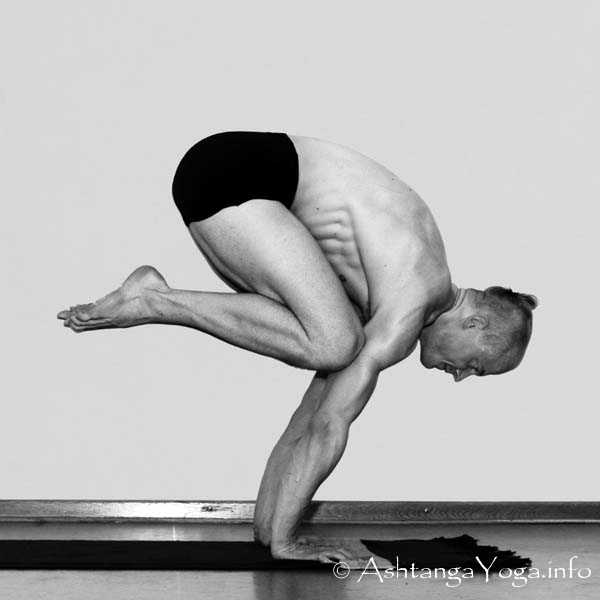 This is Crow Pose a.k.a. Bakasana