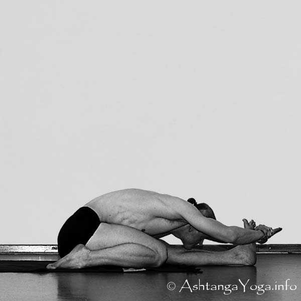 Triang Mukha Eka Pada Paschimottanasana - Primary Series (=Yoga Chikitsa / first series) is said to be the most demanding Part of Ashtanga Vinyasa Yoga. - Because it is the first series you learn as a beginner.... and every begin is hard.