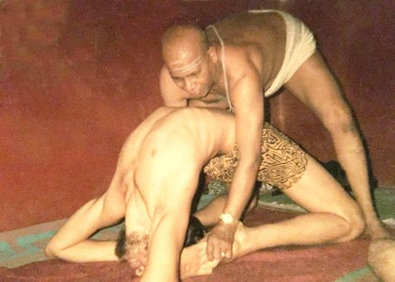 Andrew and Pattabhi Jois