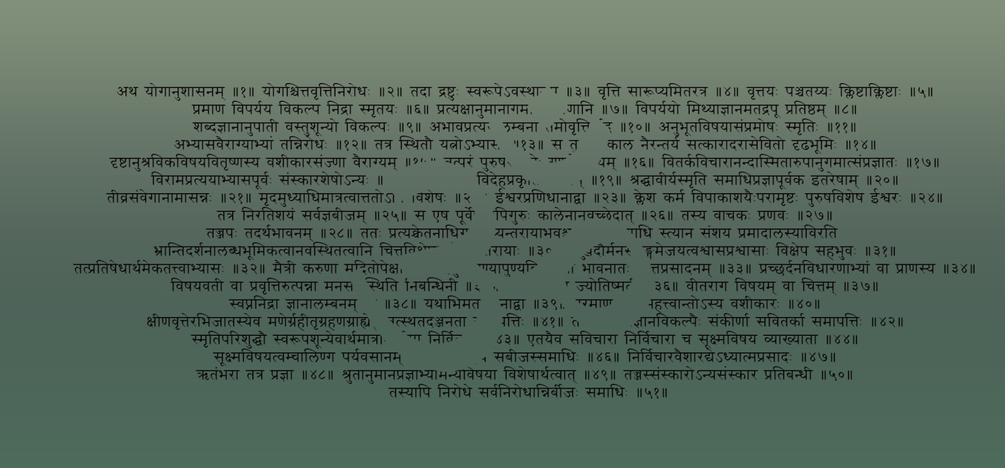 Sanskrit and Devanagari: the holy language of yoga and it's scripture